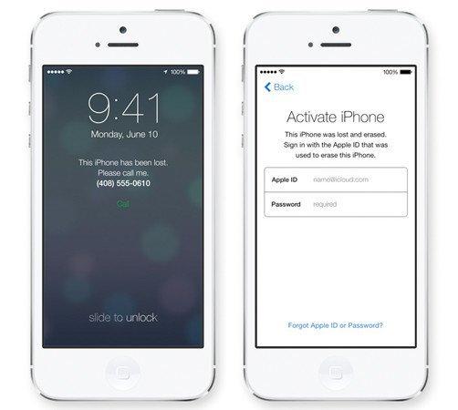 iOS 7: Activation Lock