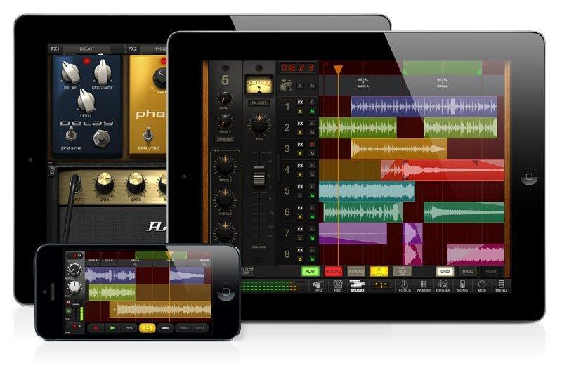 AmpliTube 3.0 für iPhone, iPod touch und iPad mit Multitrack-Studio