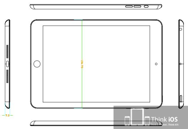 iPad Mini Konzept-Zeichnung, Bild: ThinkiOS