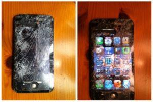 iPhone 4S nach Sturz aus 60 Metern, Foto: Joby Ingram-Dodd