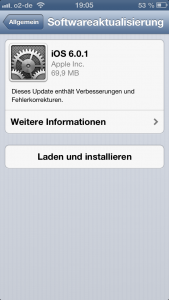 iPhone 5: iOS 6.0.1 Update