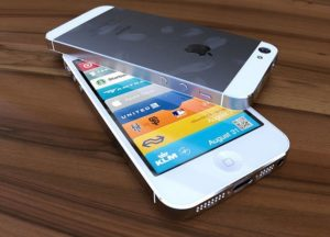 iPhone 5 Rendergrafik in Weiß