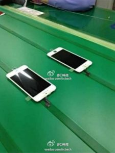 iPhone-5S-Front-Panel auf Fließband, Foto: ICTech @ Weibo