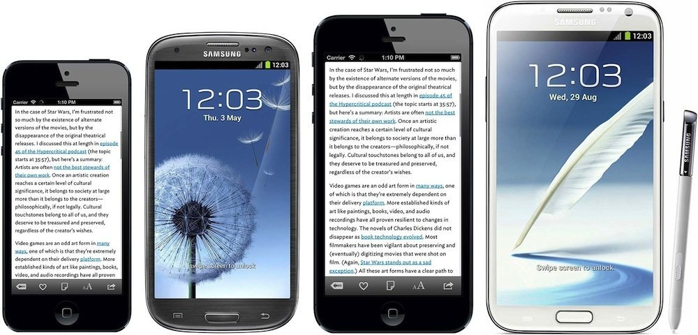 "vlnr.: iPhone 5, Samsung Galaxy S III, ""iPhone Plus"", Samsung Galaxy Note II"
