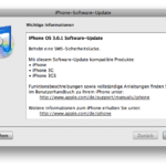 Sicherheits-Update iPhone OS 3.0.1