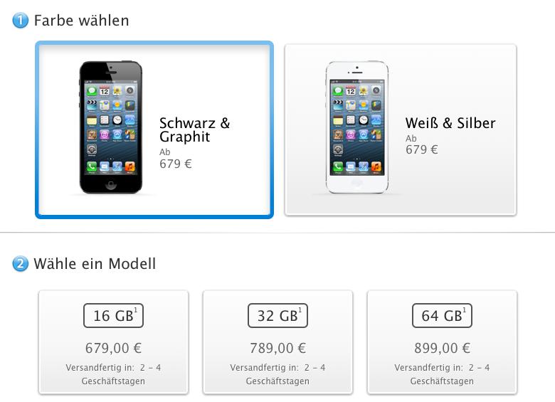 iPhone 5 Lieferzeit Dezember