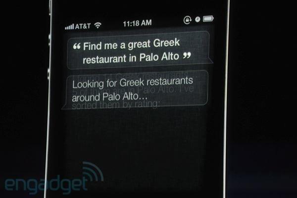Restaurant-Suche mit Siri