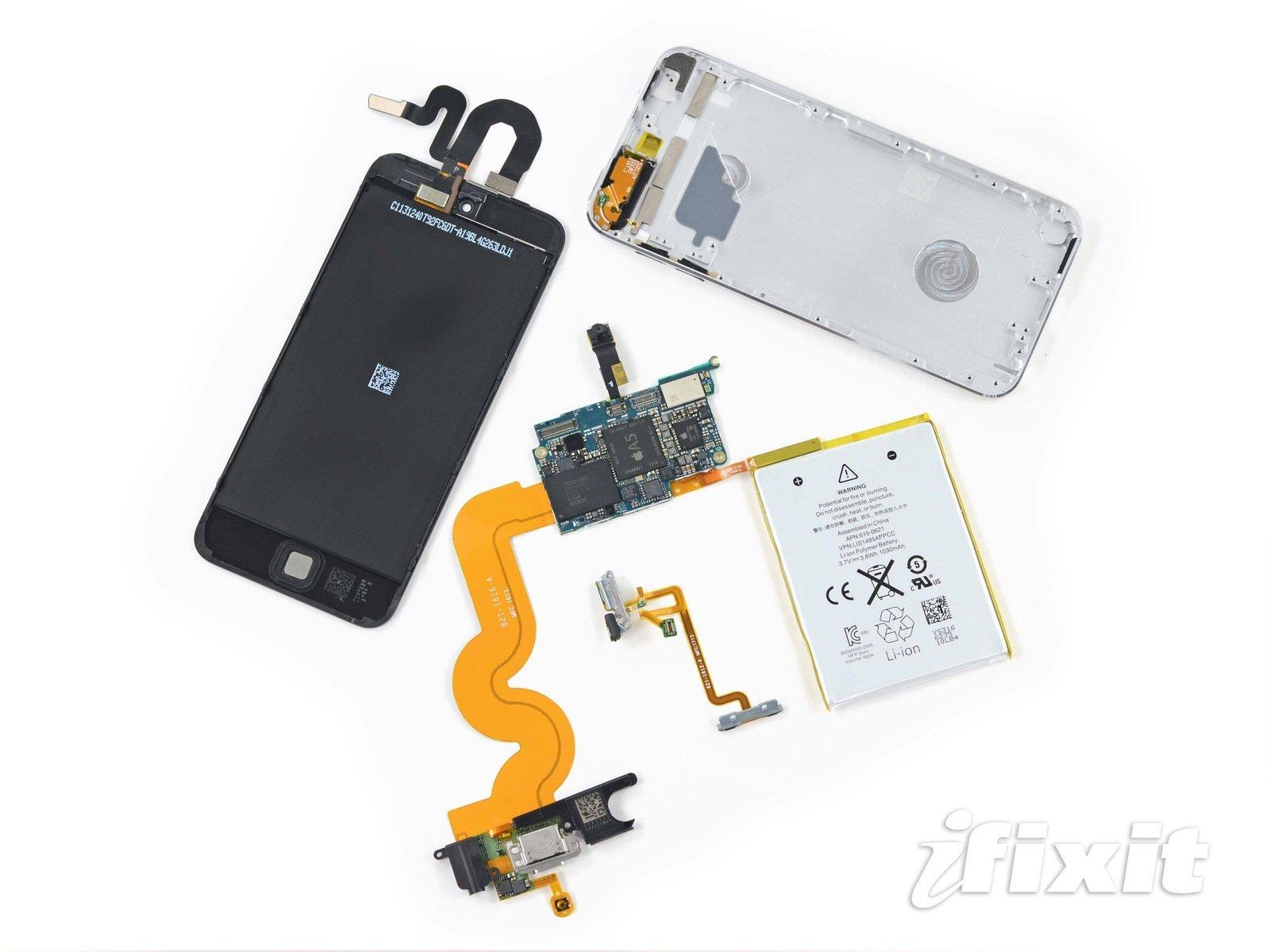 iPod touch Teardown von 5ter Generation mit 16 MB Speicher