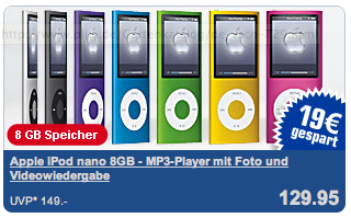 iPod nano bei PLUS