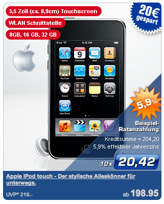 iPod touch bei PLUS