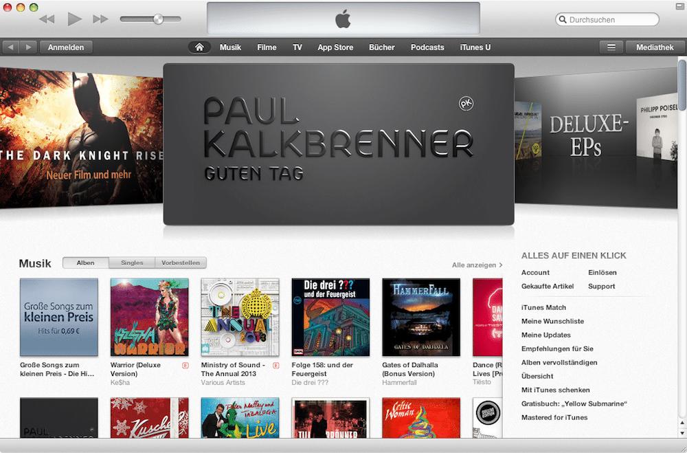 iTunes Store: Neue Ansicht