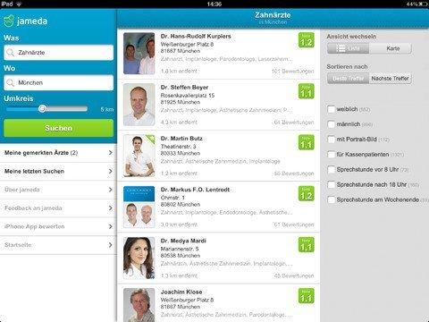 jameda Arztsuche 3.0.0 auf dem iPad