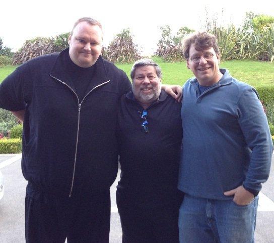 Kim DotCom, Steve Wozniak, Ira Rothken