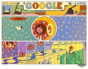 Teil eines Google-Doodles: Little Nemo in Google-Land