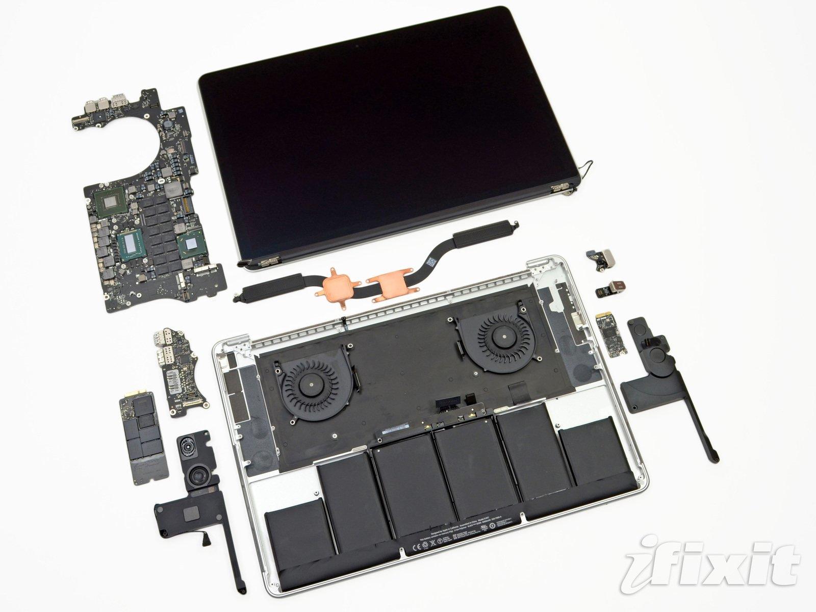 MacBook Pro Retina auseinandergenommen