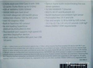 MacBook Pro 13,3 Zoll Datenblatt, Foto: WeiPhone.com