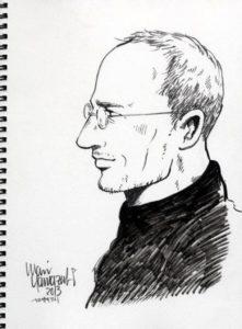Steve Jobs als Managa, Zeichnung von Mari Yamazaki