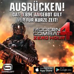 Modern Combat 4 für iPhone, iPad und Android reduziert