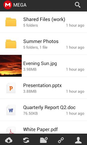 Mega Android-Screenshot