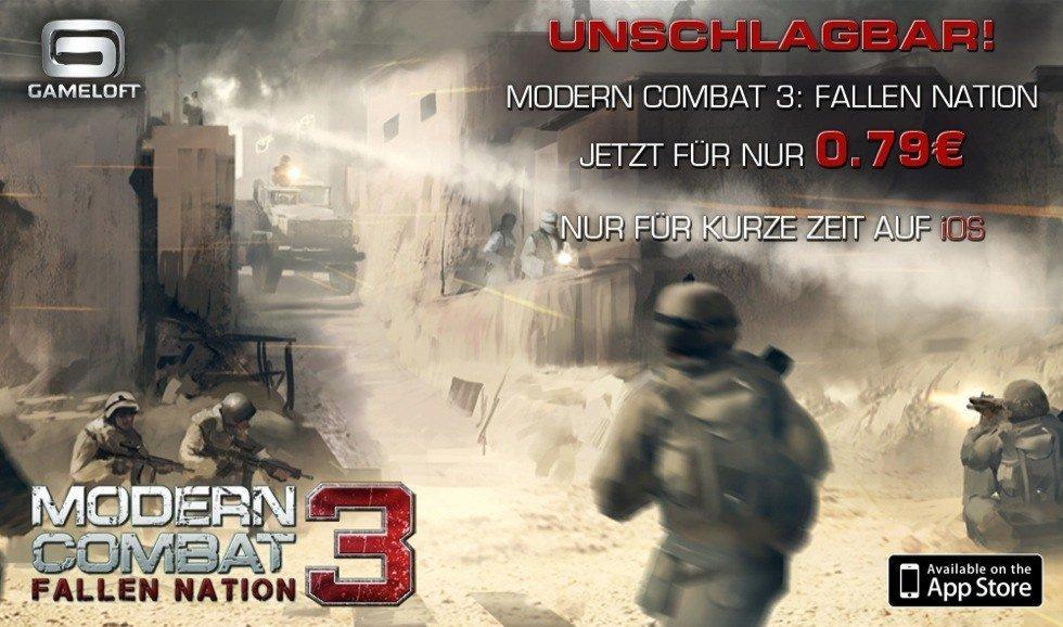 Modern Combat 3 Promo-Aktion