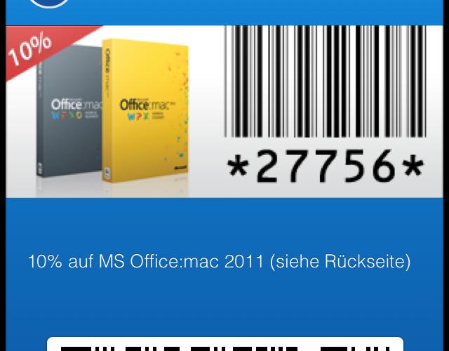 mStore Passbook-Coupon