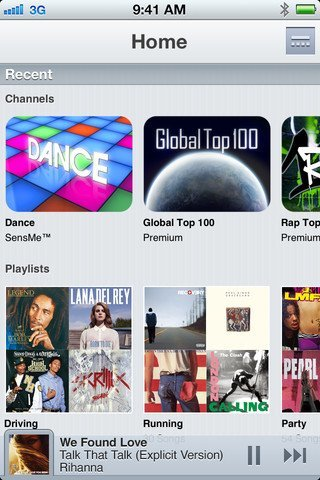 Music Unlimited iPhone-App