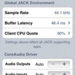 Audio-Einstellungen in Jack