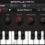 SampleTank für iPhone: Keyboard