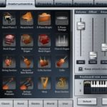 Music Studio am iPad: Instrumenten-Bibliothek