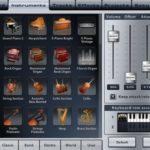 Music Studio am iPad: Instrumenten-Bibliothek