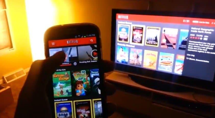 Netflix auf der PS3 via Android steuern