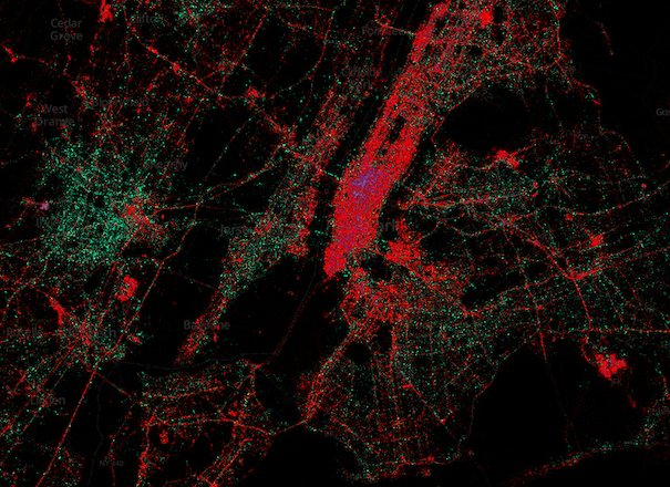 New-York-City-Twitter-Map, Bild: MapBox