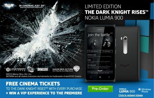 Nokia Lumia 900 Limited Edition The Dark Knight Rises