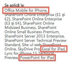 Office Mobile im Microsoft-Supportbereich