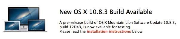 OS X 10.8.3 Build 12D43