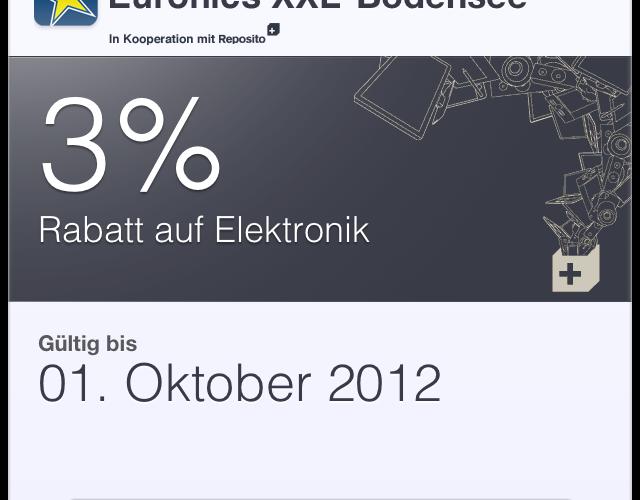 Passbook-Gutschein Euronics