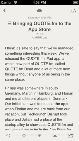 Reeder – Screenshot iPhone