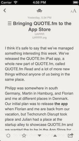 Reeder – Screenshot iPhone