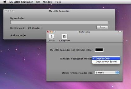 My Little Reminder - Screenshot