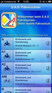 S.A.D. Führerschein - iPhone-5-Screenshot