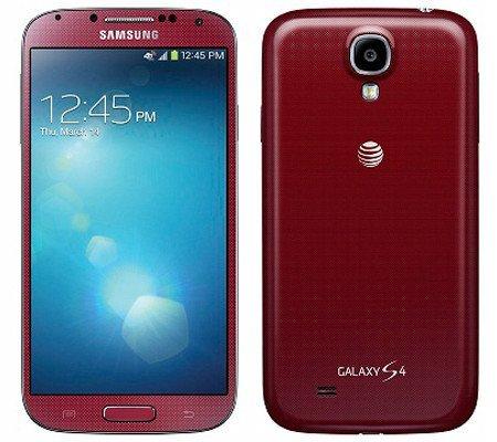 Samsung Galaxy S4 in Aurora-Rot