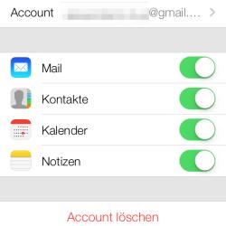 iOS 7 mit CardDav-Sync bei Google-Kontakten