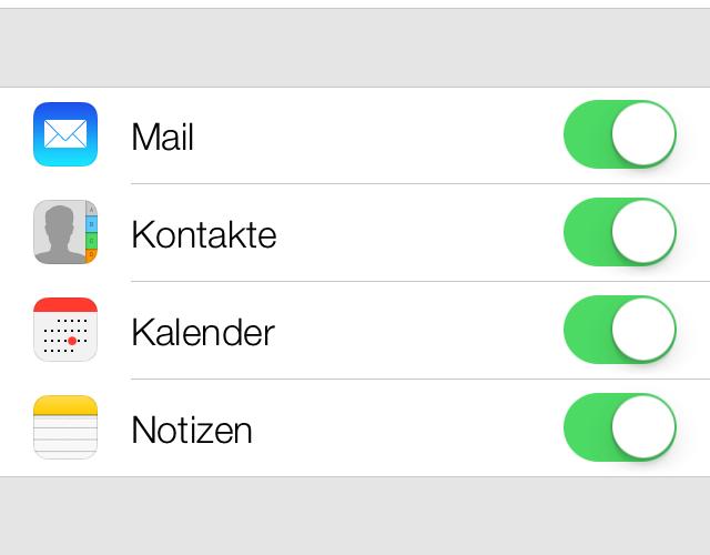 iOS 7 – Kontakte mit Gmail-Account synchronisieren