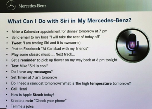 Siri-Integration bei Mercedes-Benz