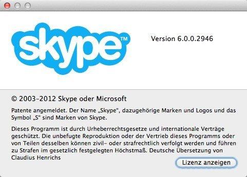 Auf Skype 6.0.0.2946 aktualisiert