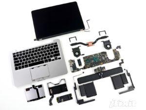 13-Zoll MacBook Pro Retina auseinandergenommen, Foto: iFixit
