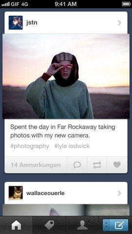 Tumblr iOS-App