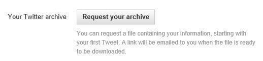 Twitter Archiv Download