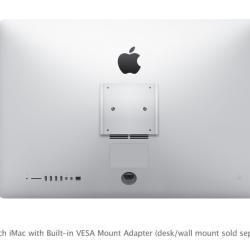 iMacs ab sofort auch mit eingebauter VESA-konformer Halterung