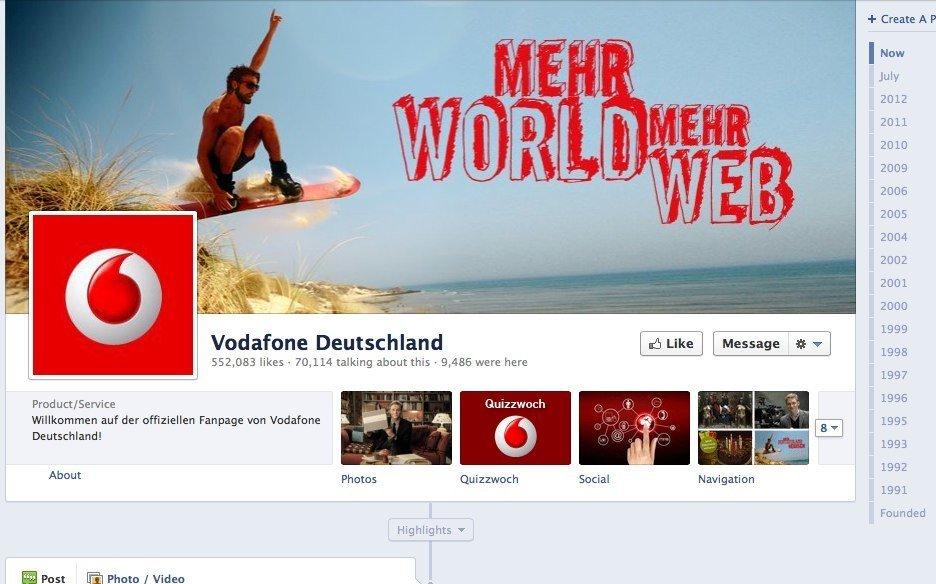 Vodafone Deutschland Facebook-Page